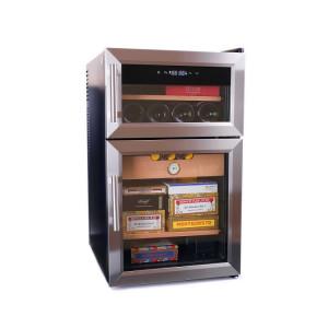 Электронный двухкамерный хьюмидор-холодильник Howard Miller на 400-600 сигар и 8 бутылок вина