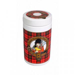 Банка для табака Шотландия красная DST 02