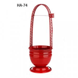 Корзина для угля цветная HA-74 (красная)