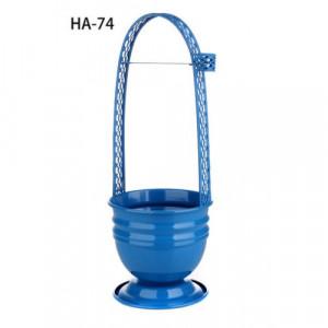 Корзина для угля цветная HA-74 (голубая)