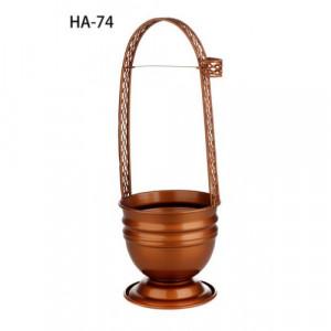 Корзина для угля цветная HA-74 (коричневая)
