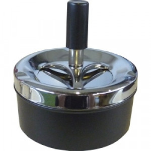 Пепельница Deluxe Ashtray вращающаяся хром черная 120 мм