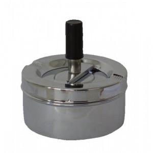 Пепельница Deluxe Ashtray вращающаяся, серебро 90 мм