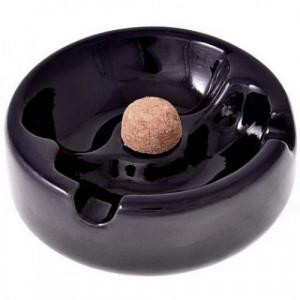 Пепельница для курительных трубок керамическая черная