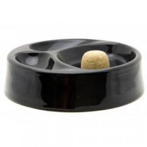 Пепельница для курительных трубок керамическая черная матовая