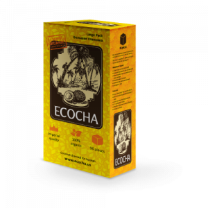 Уголь для кальяна Ecocha КУБ кокосовый 96 кубиков