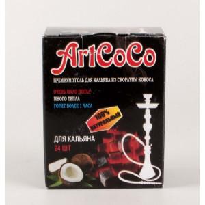 Уголь натуральный Кокосовый ArtCoco 250 гр 24 шт