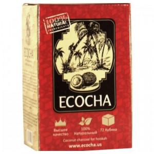Уголь для кальяна Ecocha кокосовый 72 кубика